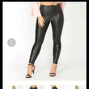 Brand New Pleather Fashion Nova Leggings.